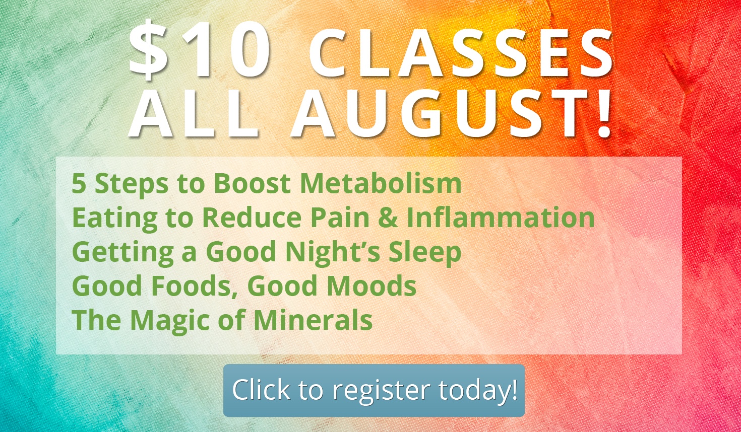 August Class Special