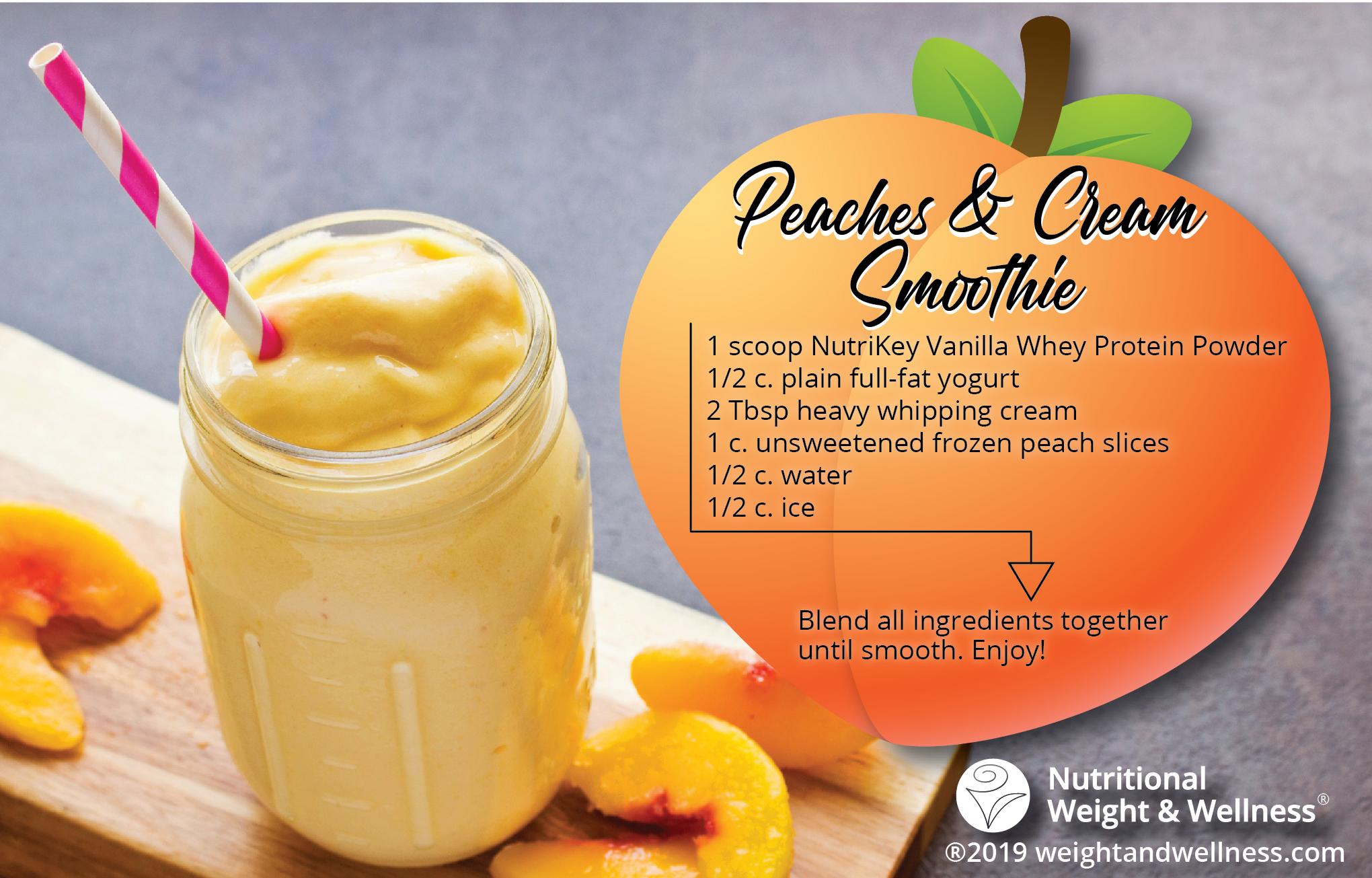 Peaches Cream Smoothie Recipe Nutritional Weight Wellness