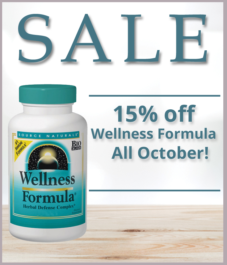 15% off Wellness Formula